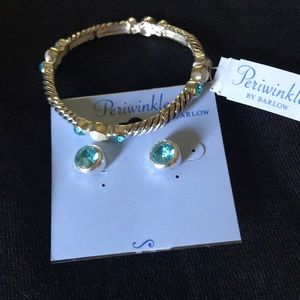 Periwinkle earrings and bracelet set NWT